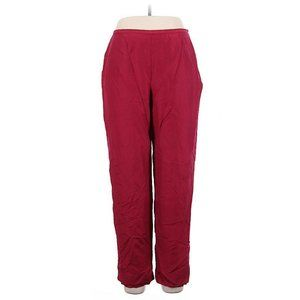 Ann Taylor 14 VINTAGE Red Silk Tapered Dress Pants
